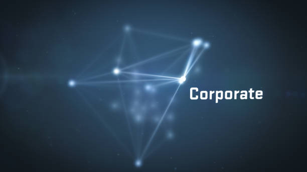 abstract futuristic text - corporate - plexus stock photos and pictures