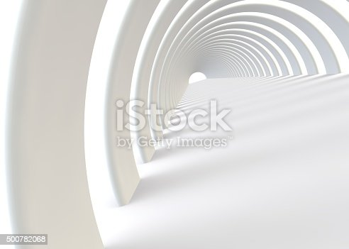 istock Abstract futuristic tunnel in a contemporary style 500782068