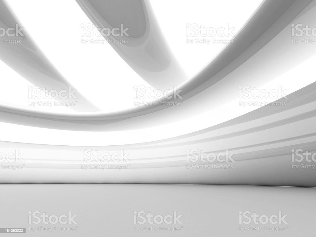 Abstrakte futuristisch weißen geometrischen Hintergrund – Foto