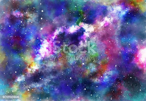 istock Abstract galaxy background 925593904