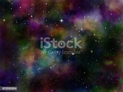 istock Abstract galaxy background 925593934
