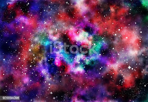 istock Abstract galaxy background 925594098