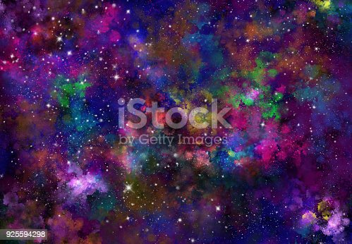 istock Abstract galaxy background 925594298
