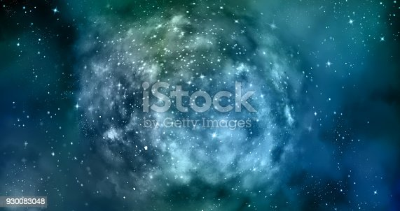 istock Abstract galaxy background 930083048
