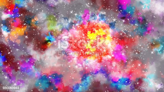 istock Abstract galaxy background 930083944