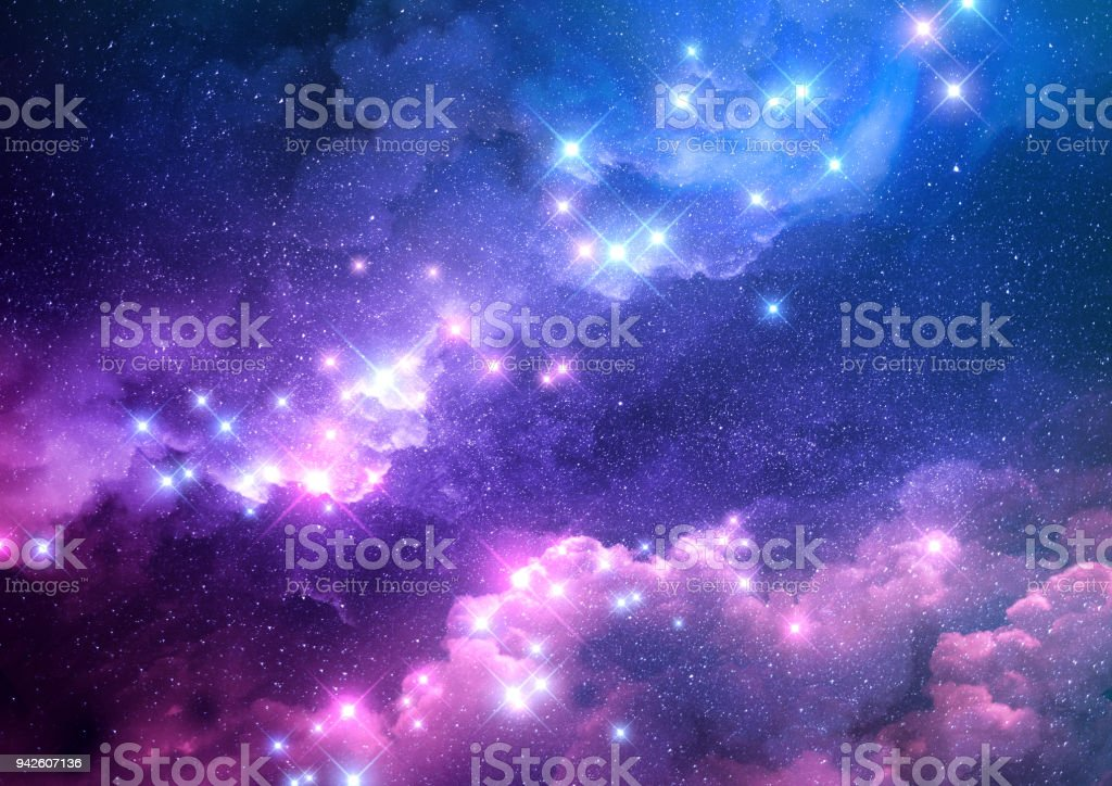 Abstract Galaxy Background stock photo