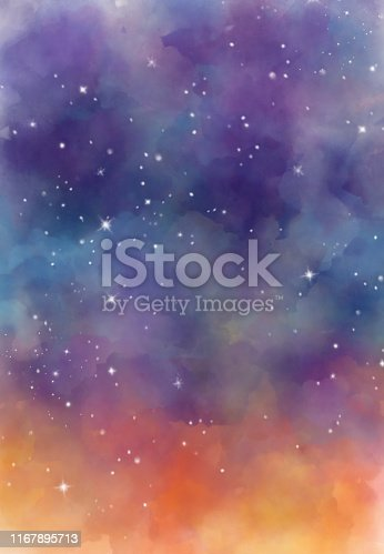 istock Abstract galaxy watercolor backgrounds 1167895713