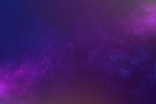 Galaxy abstract background with shiny stars and colorful clouds