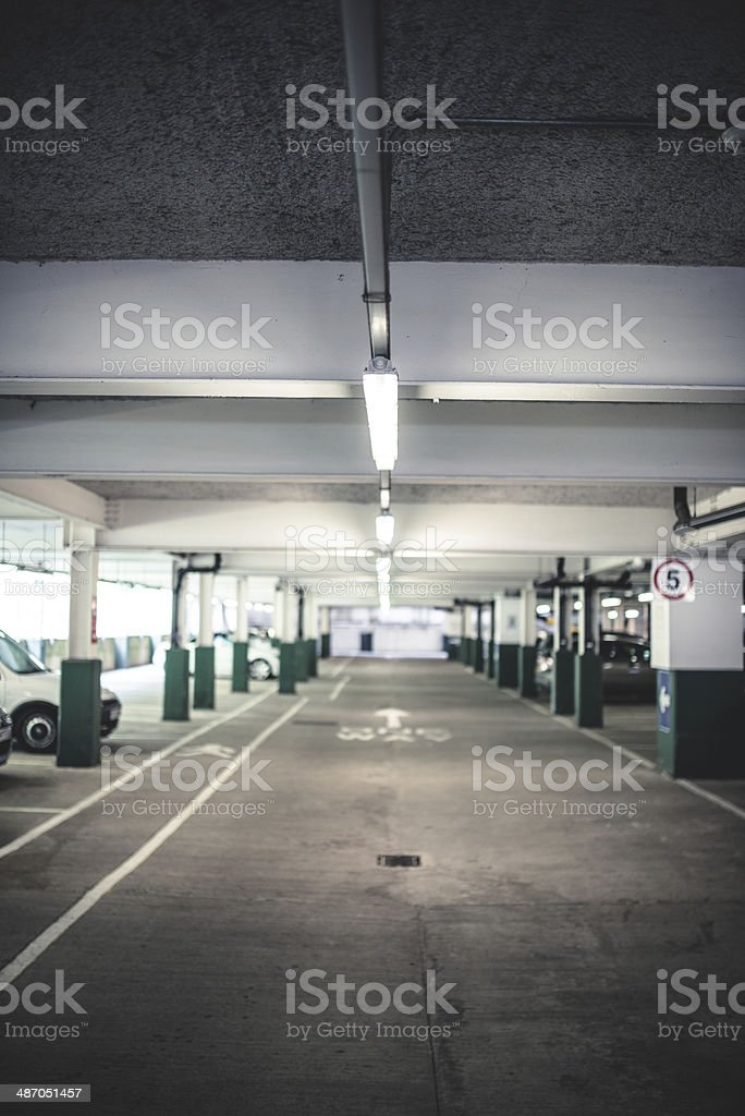 Abstract Garage interior view royalty-free stock photo