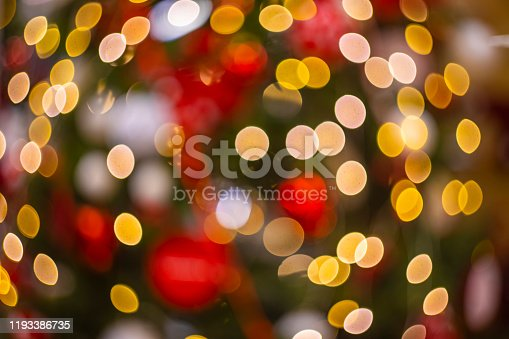 865140324 istock photo abstract garland Christmas tree lights colorful bokeh circles illumination from lamps festive winter holidays wallpaper pattern picture with empty copy space 1193386735
