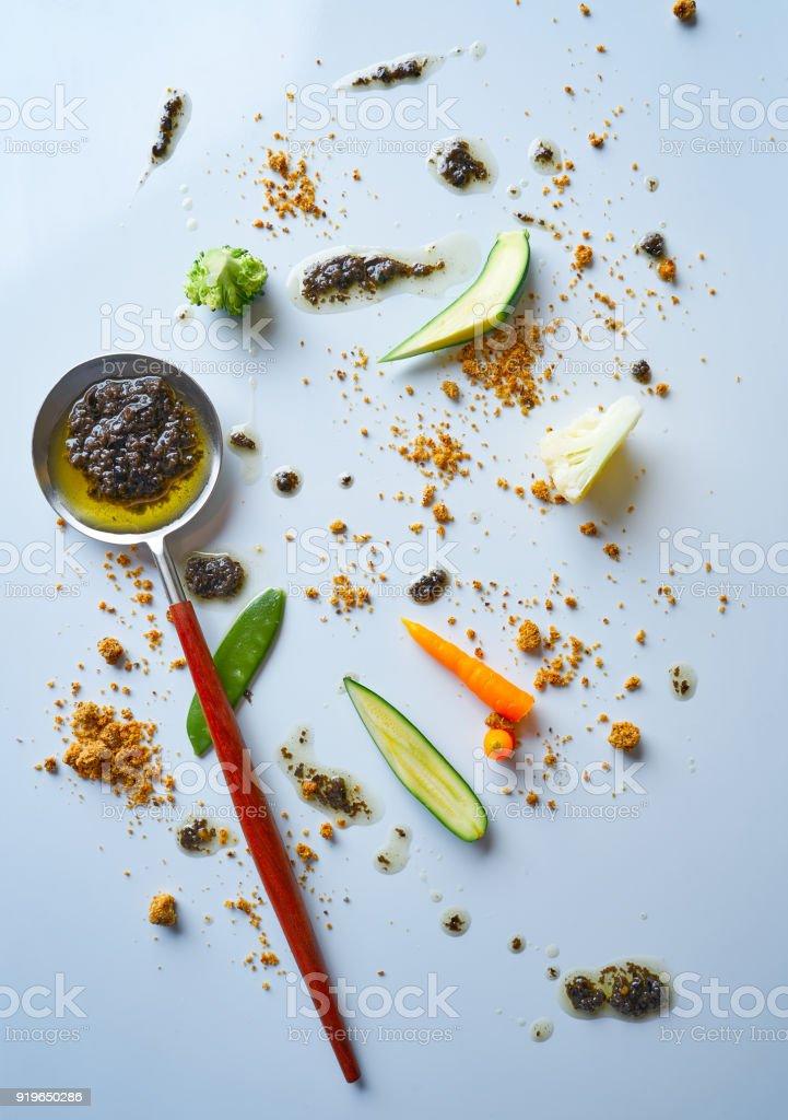 abstract gastronomy vanguard concept molecular cuisine stock photo