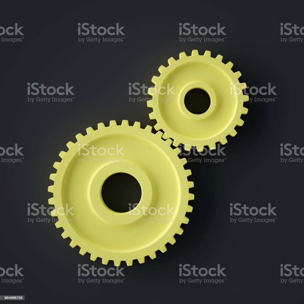Abstract Gears Symbol stock photo