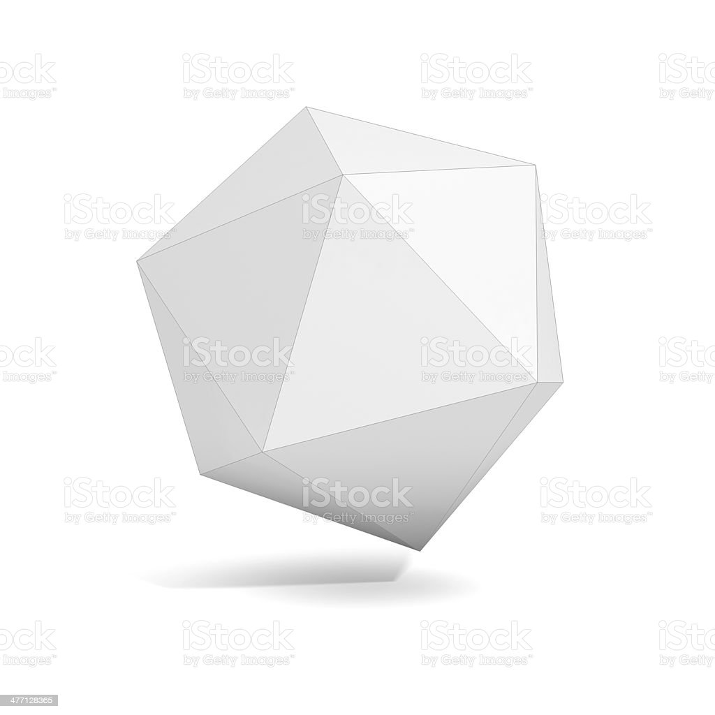 abstract geometric 3d object - polyhedron variation stock photo