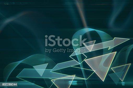 istock Abstract geometric backdrop 832289244