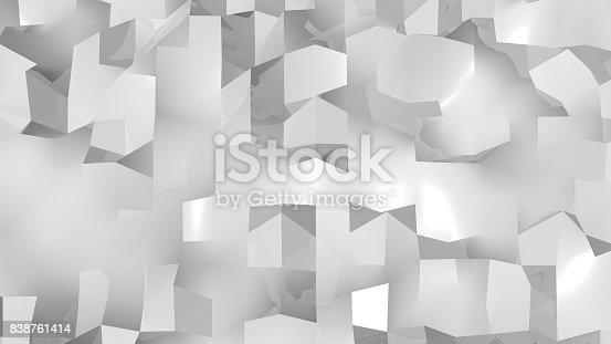 istock Abstract Geometric Background. Digital backdrop 838761414