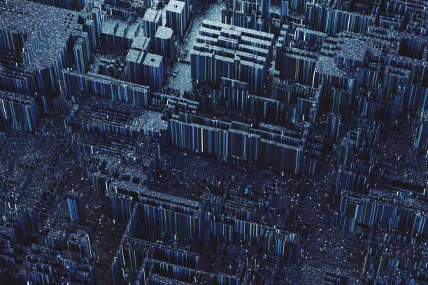 abstract geometric background - scheda a circuito foto e immagini stock