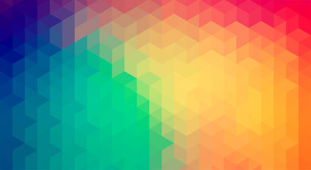 abstrait géométrique. version de raster - fond multicolore photos et images de collection
