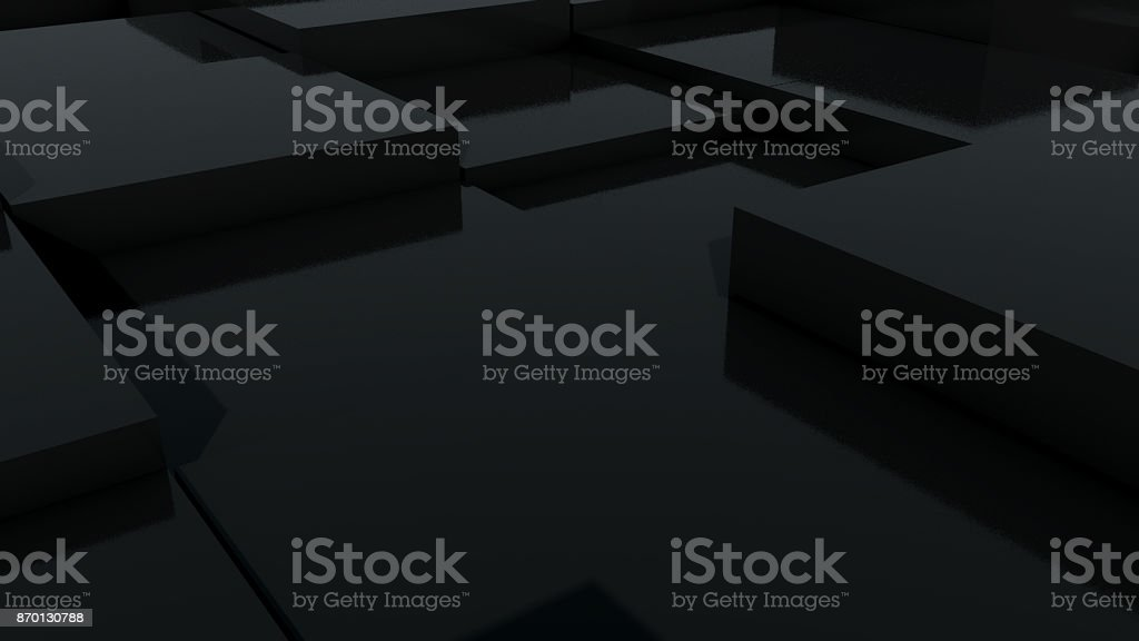 Abstract geometric background with cubes in black stock photo