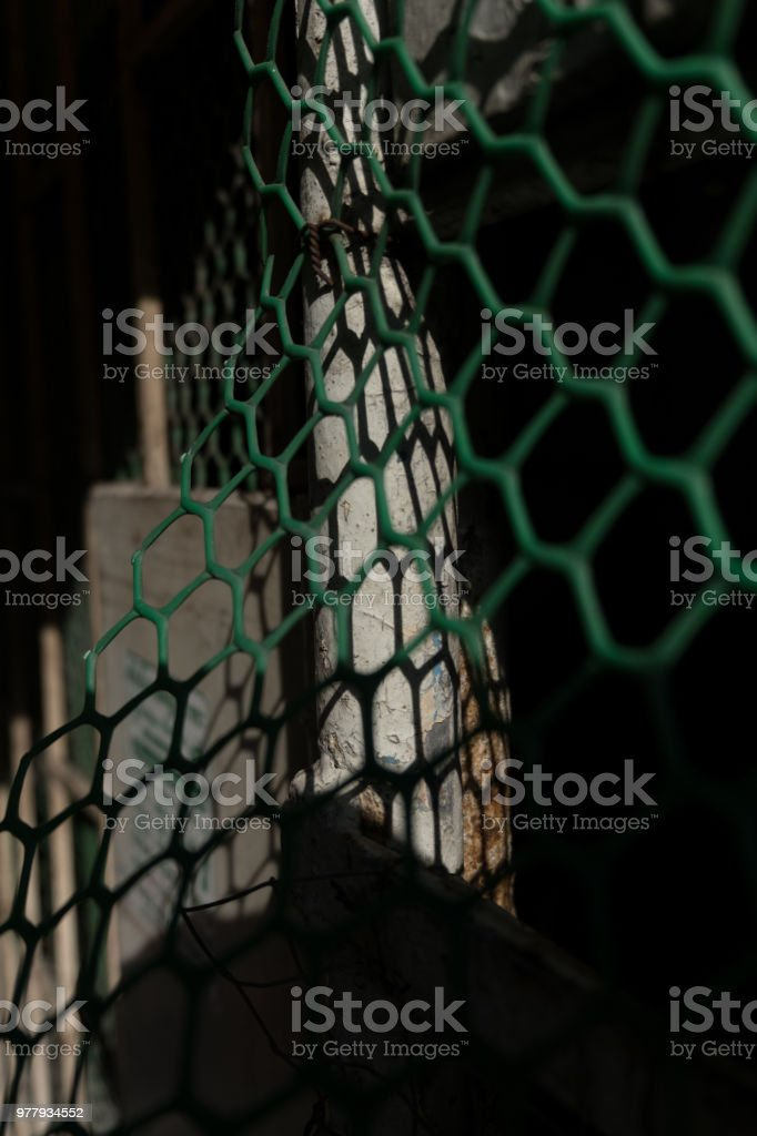Abstract geometric barrier stock photo