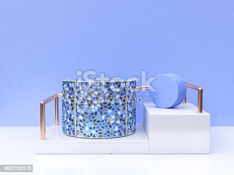 479257178istockphoto abstract geometric blue group shape 3d rendering 995255376