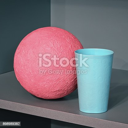 1127798356 istock photo Abstract Geometric Composition With Sphere 898989382