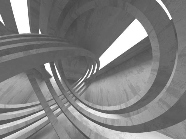 Abstrakte geometrische Betonarchitektur Hintergrund – Foto