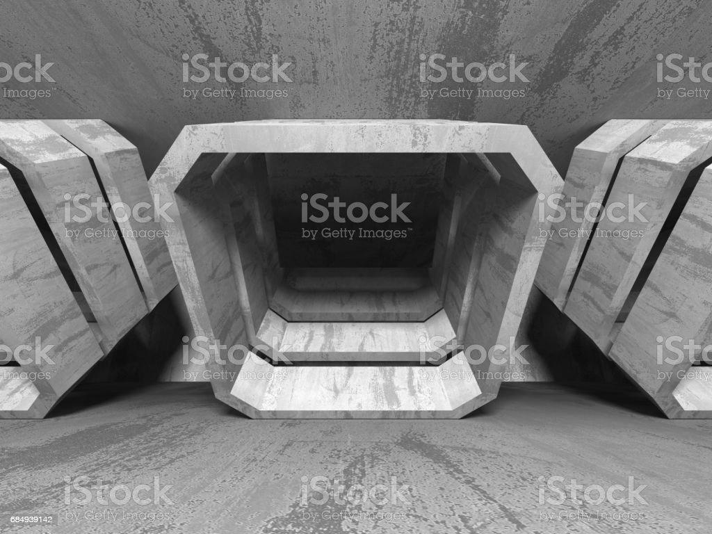 Abstrakte geometrische Betonarchitektur Hintergrund Lizenzfreies stock-foto