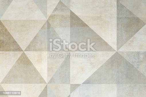 Composition with triangular elements; abstract background
