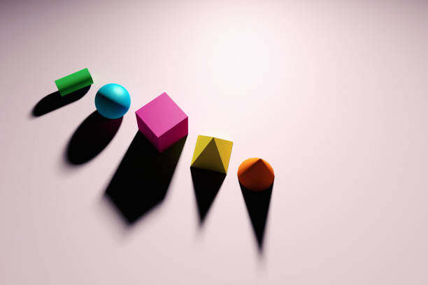 Abstract geometric figures still life stock photo