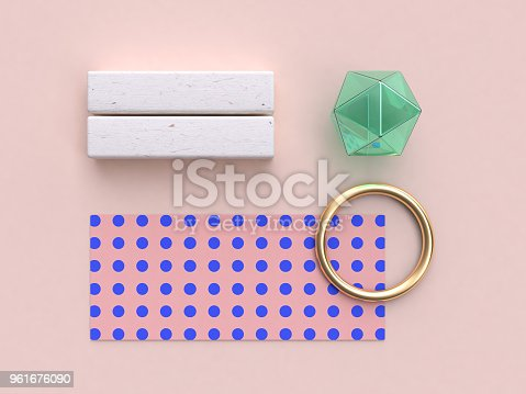 istock abstract geometric flat lay background 3d rendering pink blue pattern gold green glass clear 961676090