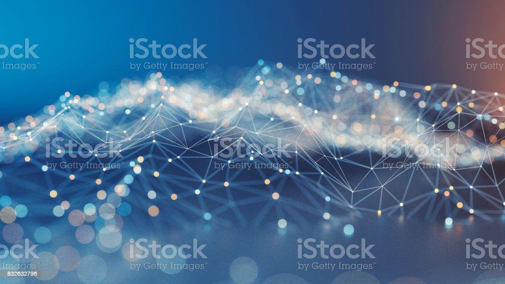 Paisaje abstracto geométrico foto de stock libre de derechos