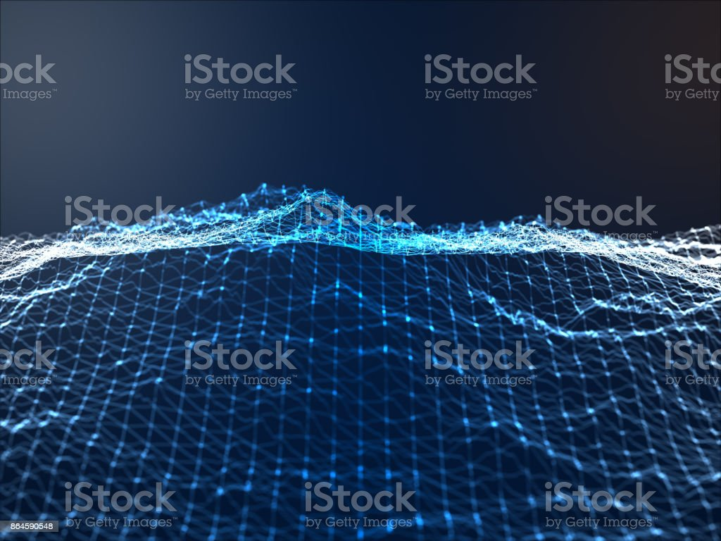 Abstract Geometric Landscape stock photo