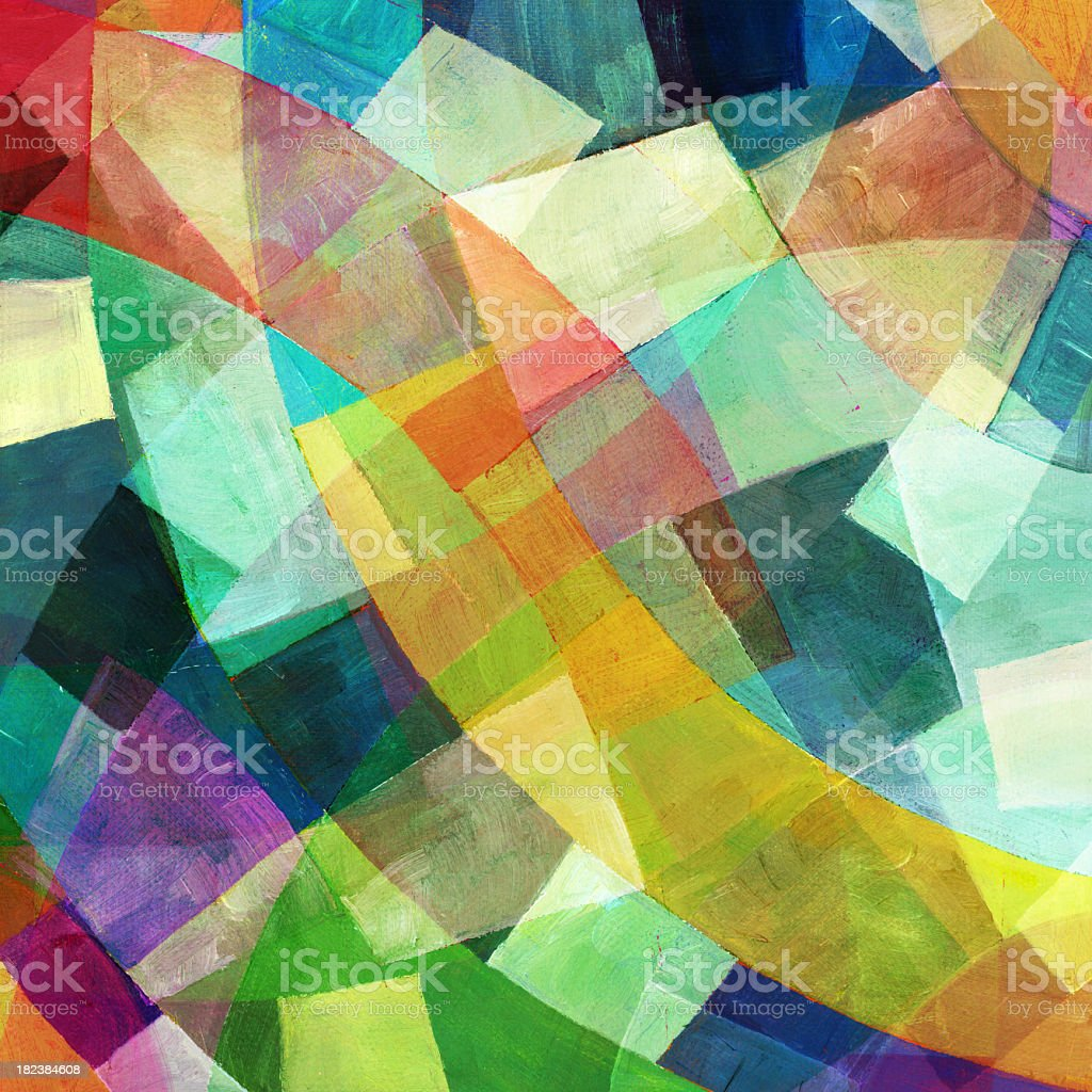 Abstract Geometric Painting stock photo