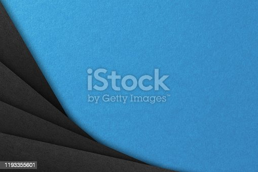 1126531335 istock photo Abstract geometric paper background in blue and black colors 1193355601