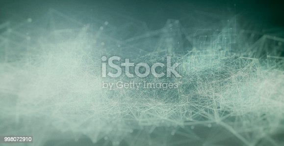 istock Abstract geometric particle landscape 998072910