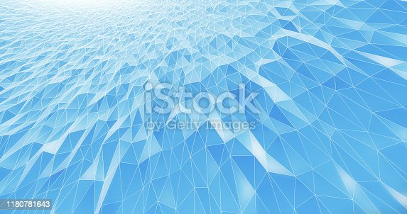 995719694 istock photo Abstract Geometric Pattern Background - Light Blue - Business, Technology, Science 1180781643