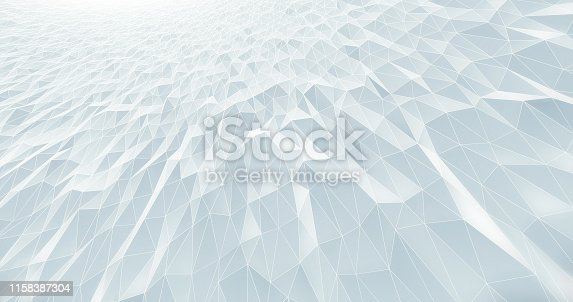 istock Abstract Geometric Pattern Background - White 1158387304