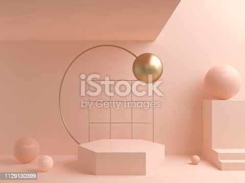 istock abstract geometric shape background, modern minimalist mockup for podium displa. 1129130399