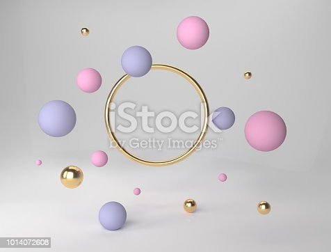 istock Abstract geometric shape scene. 3d rendering 1014072608