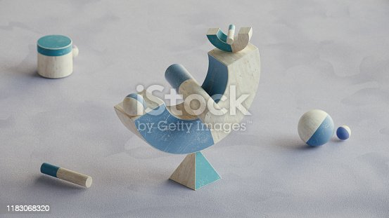 950775710 istock photo Abstract geometric shape scene. 3d rendering 1183068320