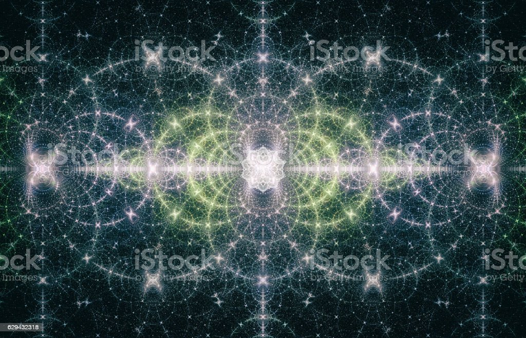 Abstract Geometric Space and Fractals Concept Art stock photo