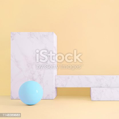 1148389653istockphoto Abstract geometric stage like setup, with vivid colors. Copy space background 1148389683