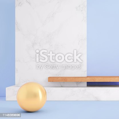 1148389653 istock photo Abstract geometric stage like setup, with vivid colors. Copy space background 1148389696