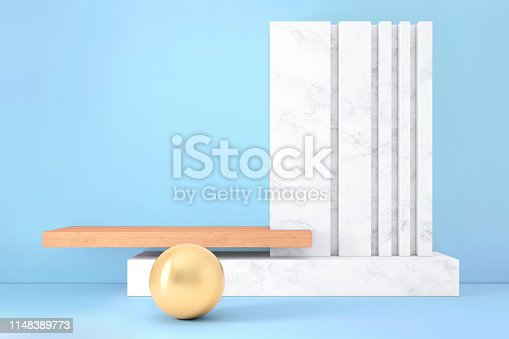 1148389653istockphoto Abstract geometric stage like setup, with vivid colors. Copy space background 1148389773
