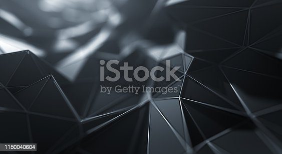istock Abstract Geometric Surface (Black) 1150040604
