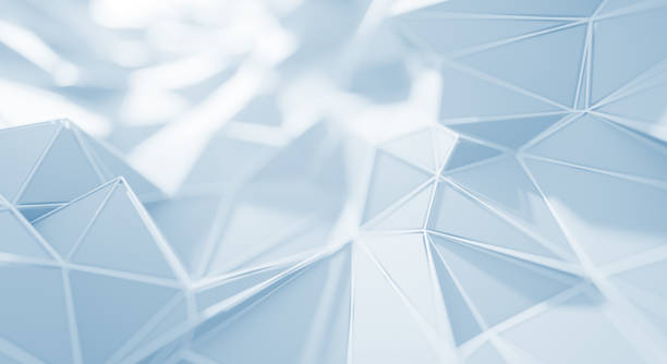 Abstract Geometric Surface (White) stock photo