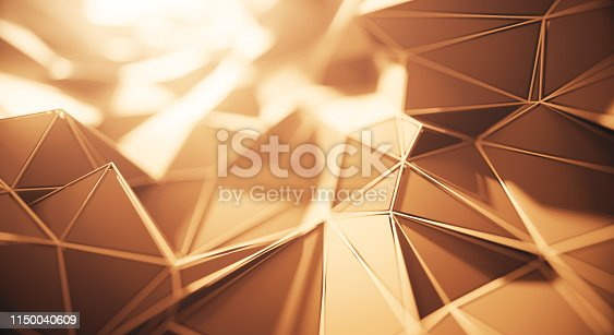 3D rendered abstract background, perfectly usable for a wide range of topics related to technology, construction or design.
