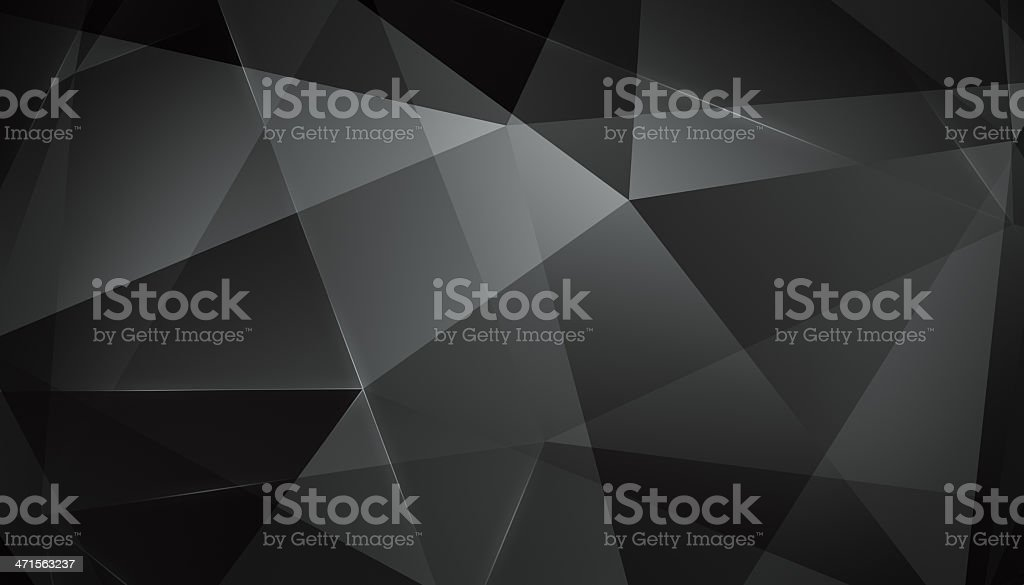 Abstract geometric triangle background. Black Version. stock photo