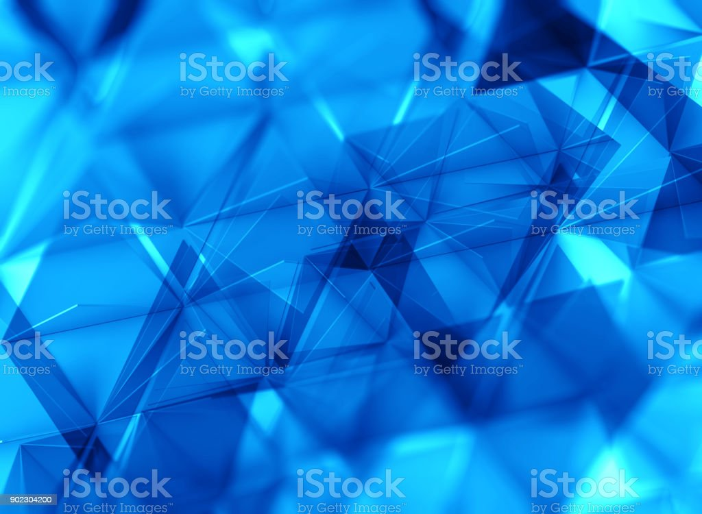 Abstract geometric triangle background. Blue Version stock photo