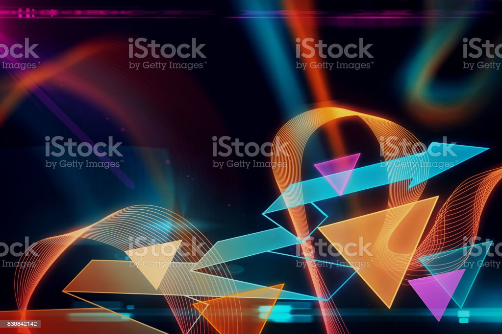 Abstract geometric wallpaper stock photo